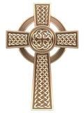 Крест золота кельтский Стоковое Изображение RF