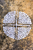 Крест и круг Стоковое фото RF