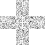 крест каллиграфии Стоковая Фотография RF