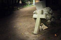 Крест кладбища Стоковые Фото