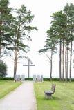 Крест морем Стоковые Изображения RF