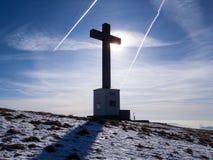 Крест на верхней части стоковая фотография