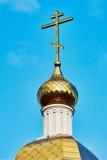 Крест на куполе Стоковые Изображения