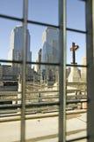 Крест на мировой торговле возвышается мемориальное место на 11-ое сентября 2001, Нью-Йорк, NY Стоковая Фотография