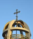 Крест на православной церков церков Стоковые Изображения
