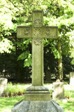 Крест на старом Cemetry Стоковые Фото