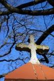 Крест на часовне Стоковое Изображение