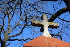 Крест на часовне Стоковое Изображение RF