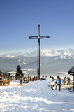 Крест на Gubalowka - Zakopane, горах Tatra Стоковая Фотография