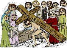 крест нося Стоковые Фото