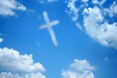 крест облака Стоковые Изображения
