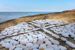Крест от камешков Стоковое Фото