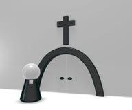 Крест пастора и христианина Стоковая Фотография RF