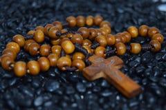 Крест розария стоковое изображение rf