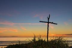 Крест ручки пляжа Стоковые Фото