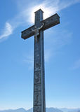 Крест саммита стоковое фото rf