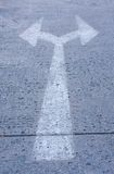крест стрелки Стоковая Фотография RF