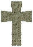 Крест сделанный из старых и пакостных микропроцессоров Стоковые Изображения RF