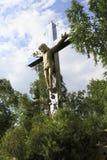 Крест с распятием Христоса Стоковое Изображение