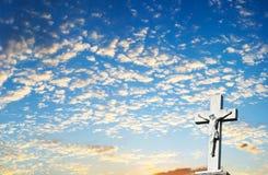 крест христианки предпосылки Стоковая Фотография RF