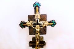 Крест церков на белой предпосылке Стоковые Изображения RF