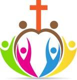 Крест людей христианства иллюстрация штока