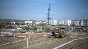 Крест 4x4 виллиса Молдавии Ohei пробный Стоковое фото RF