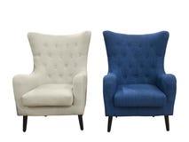 2 кресла изолированного на белой предпосылке Стоковая Фотография