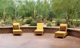Кресла для отдыха на патио Стоковое Изображение