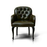 Кресло Brown кожаное Стоковые Изображения RF