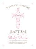Крещение, крестить, общность, или шаблон приглашения подтверждения - вектор Стоковые Изображения
