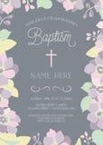 Крещение, крестить, первая общность, или шаблон приглашения подтверждения Стоковое фото RF
