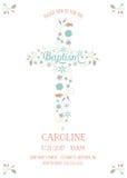 Крещение, крестя, общность - религиозный шаблон карточки случая Стоковые Фото