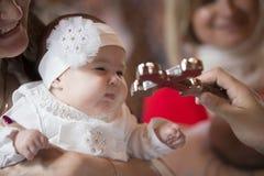 Крещение младенца стоковое фото rf