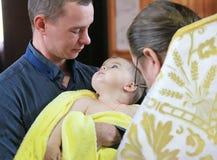 Крещение ребенка стоковое фото rf