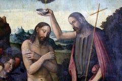 Крещение Христоса Стоковая Фотография