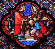 Крещение Clovis, первого христианского короля Франции стоковые изображения rf