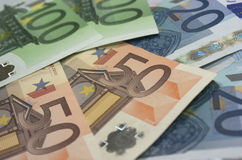 Кредитки евро Стоковая Фотография RF