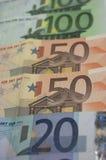 Кредитки евро стоковое изображение rf
