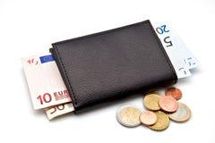 Кредитки и монетки евро Стоковое Изображение RF