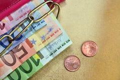Кредитки и монетки Стоковая Фотография RF