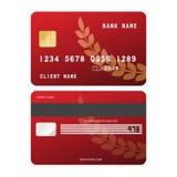 Кредитная карточка вектора Стоковое Фото