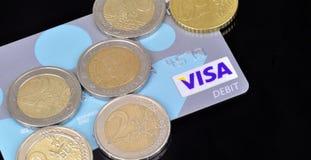 Кредитная карточка визы Стоковые Фотографии RF