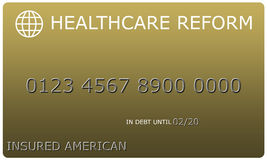 Кредитная карточка золота платины реформы здравоохранения иллюстрация вектора