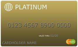 Кредитная карточка золота платины иллюстрация штока