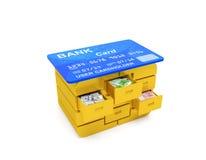 Кредитная карточка кредита в банке с микросхемой Стоковое Фото