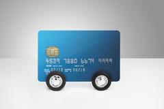 Кредитная карточка на колесах Стоковые Изображения