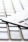 Кредитная карточка на клавиатуре Стоковые Изображения
