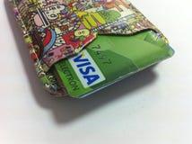Кредитная карточка visa в случае если Стоковые Изображения