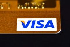 Кредитная карточка visa Стоковые Фото